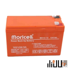باتری خشک 12 ولت 7 آمپر موریسل moricell